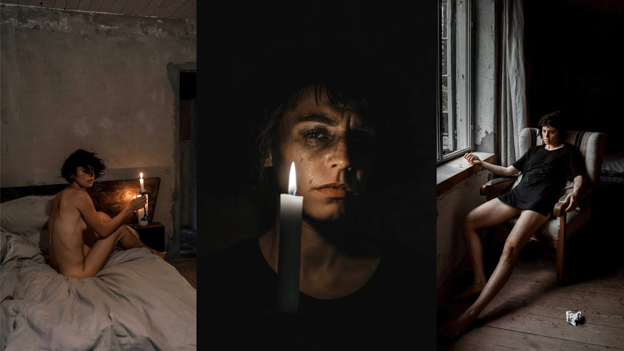 ADVANCED SELFIE CHALLENGE: Dark Emotional Heartbreak Edition (6 Easy Self Portrait Ideas)