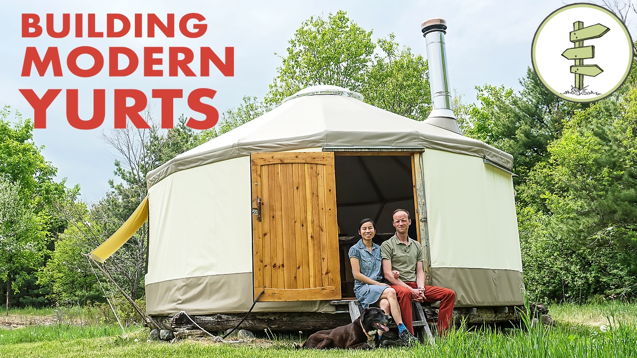 Couple Building Modern Yurt as Super Portable Tiny Home