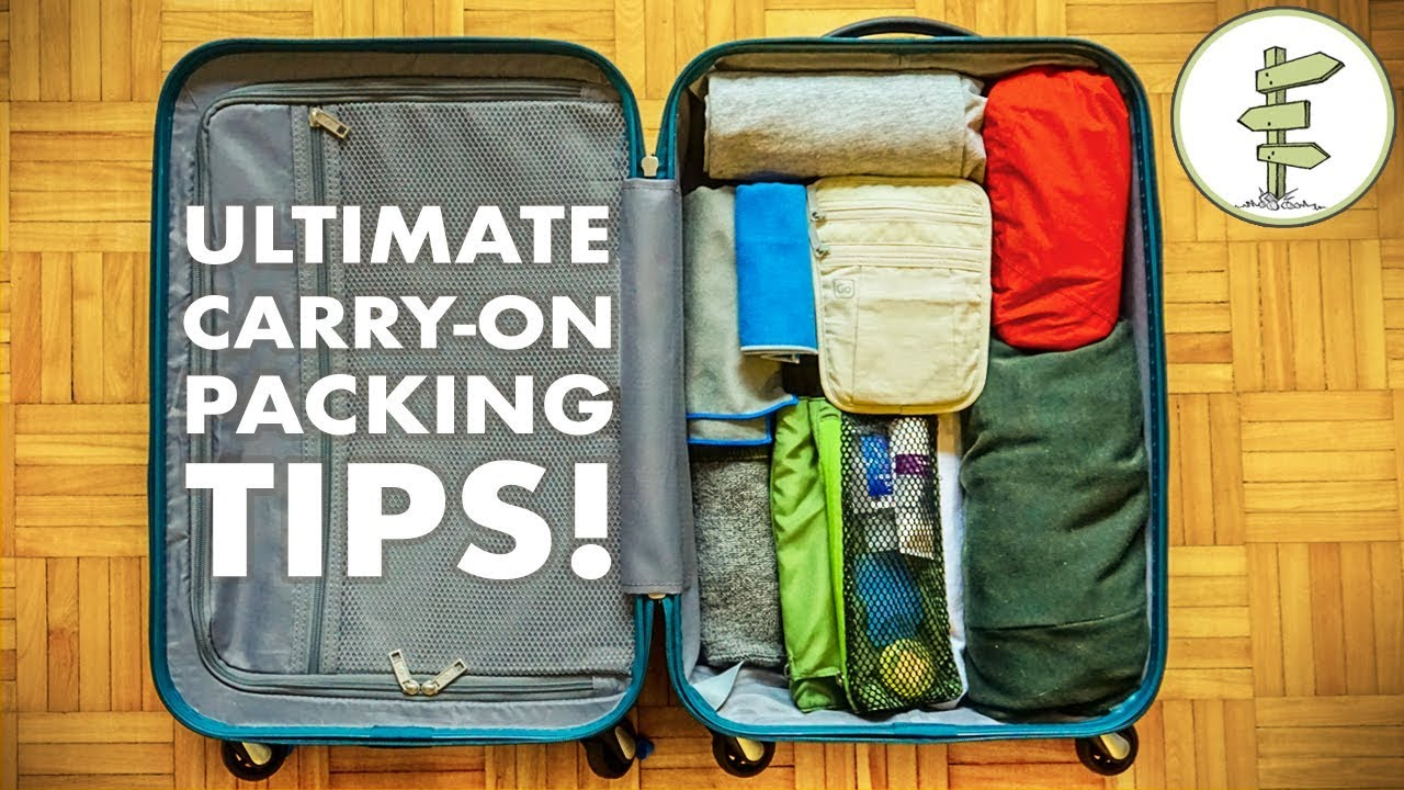 Minimalist Packing Tips & Hacks – Travel Light With Only Carry-On Luggage!