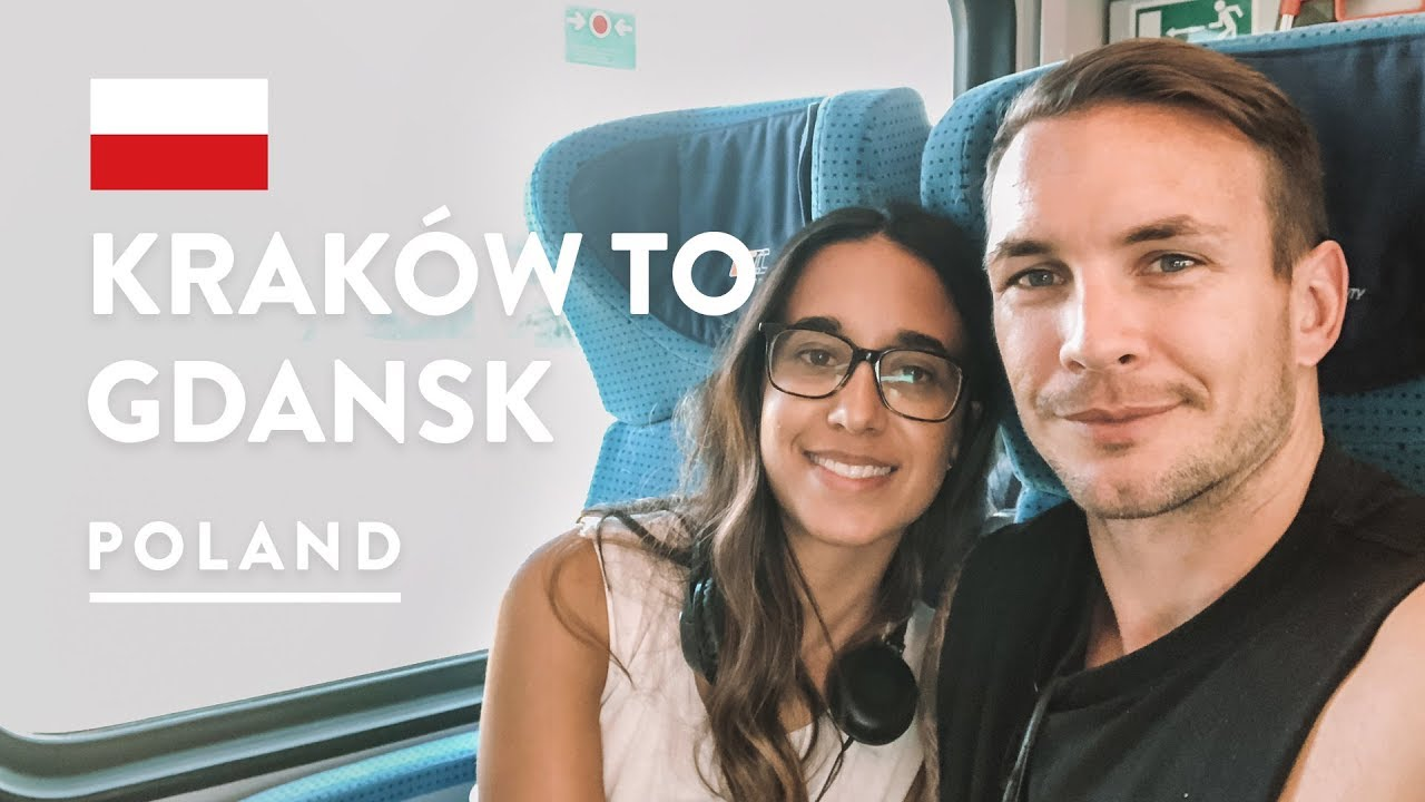 2ND CLASS FOR 8 HOURS 🚂 Train Krakow to Gdansk & Sopot | Poland Travel Vlog 2018