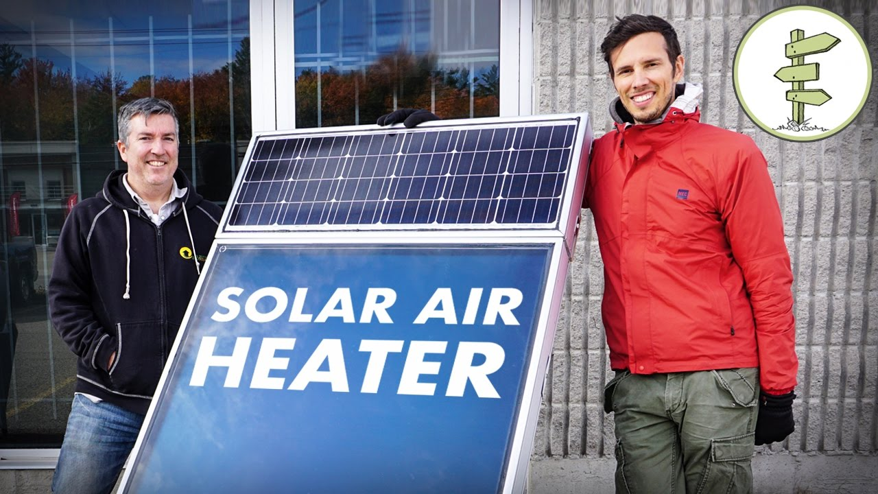 Awesome Solar Air Heater for Off Grid Living, Tiny Houses, RVs and more..