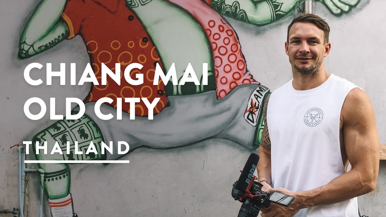 EPIC GRAFFITI, OLD CITY & GOLD TEMPLES | Chiang Mai Old Town | Travel Vlog 124, 2018