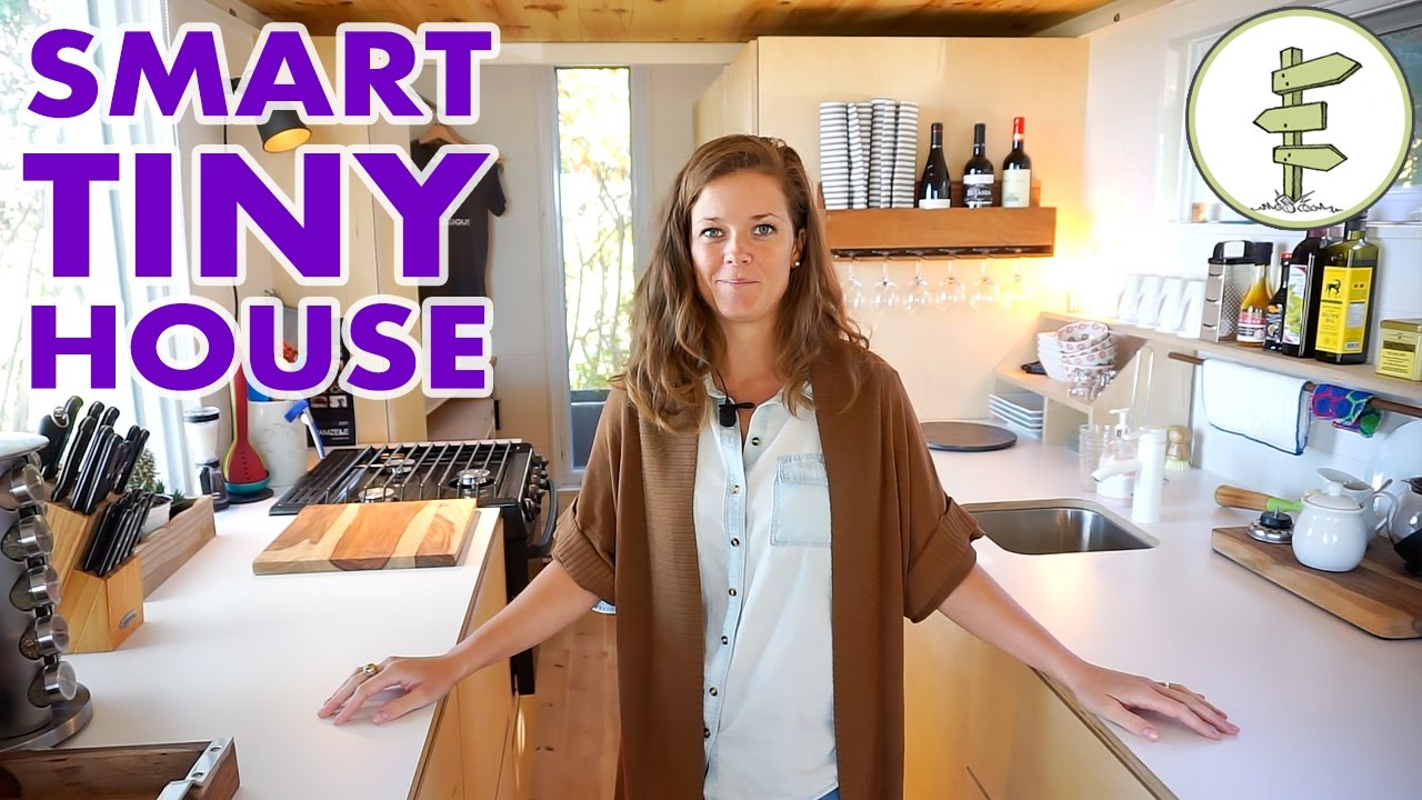 Modern Tiny House with Hidden Bathroom & Space Saving Furniture – Full Tour