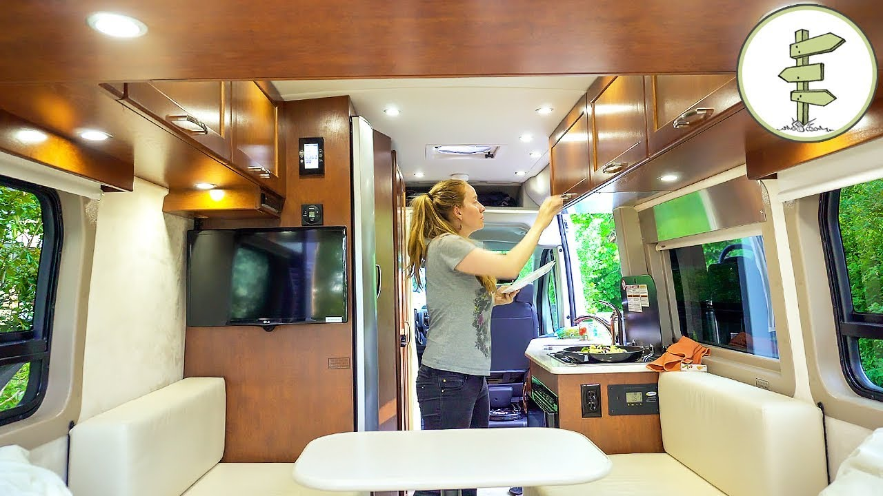 Trying out a Crazy $100K Camper Van – Full Tour