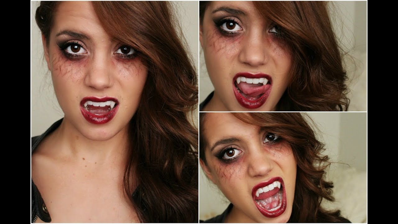Vampire Halloween Tutorial | TVD Inspired! (Makeup, Hair & Outfit)