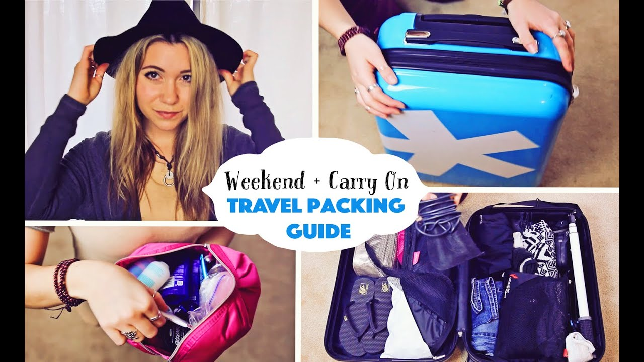 WEEKEND + CARRY-ON  // Travel Packing Guide