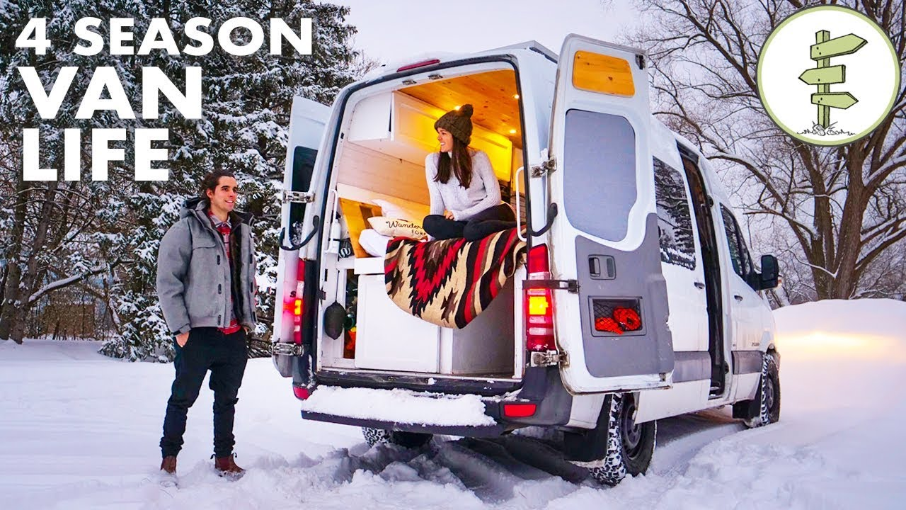 Winter Van Life – Couple Living in a Camper Van While Running a Business