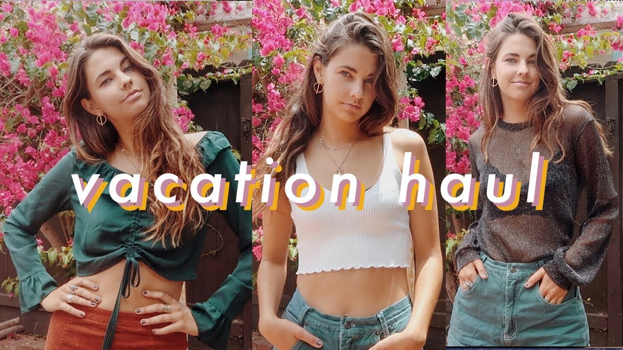 travel vacation try-on haul