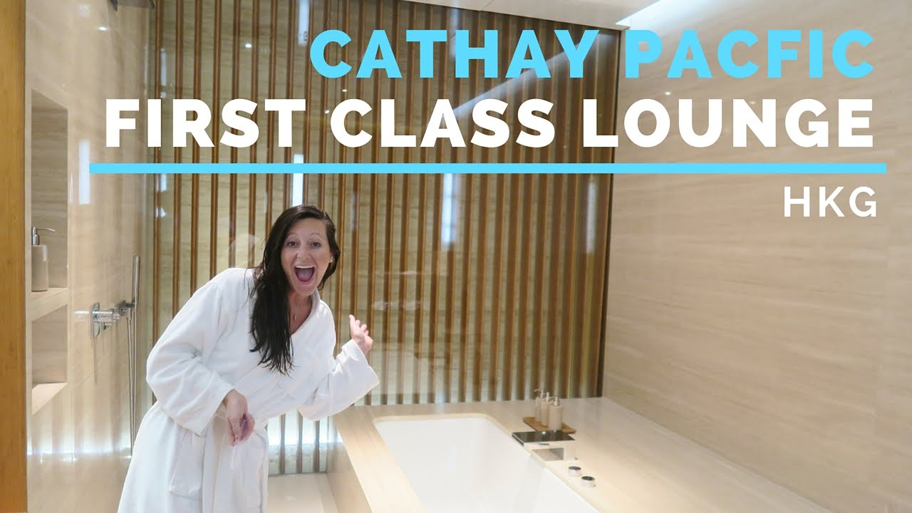 Cathay Pacific Wing FIRST CLASS Lounge HKG